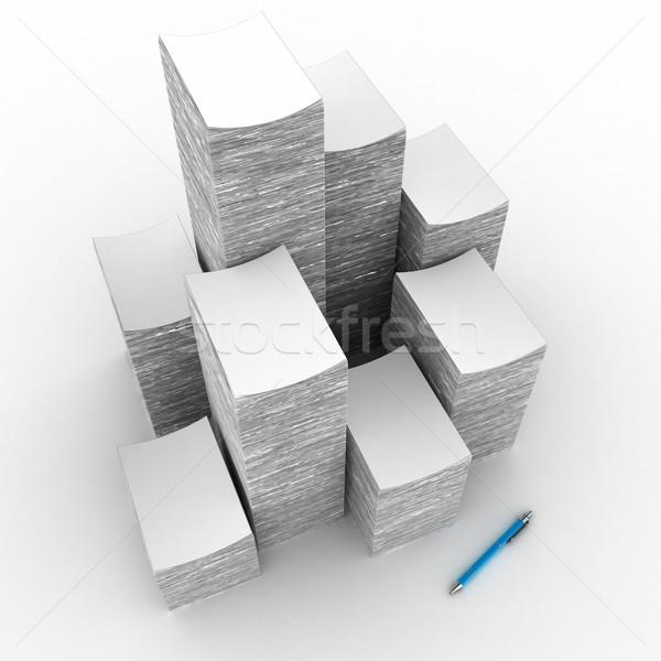 Papier groot witte werk pen Stockfoto © FotoVika