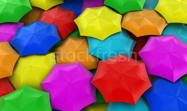 Parapluies illustration beaucoup une lieu Photo stock © FotoVika