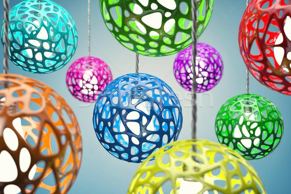 Diverso colore casa design home vetro Foto d'archivio © FotoVika