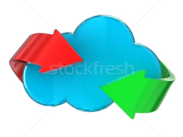Wolk illustratie Blauw verschillend pijlen server Stockfoto © FotoVika