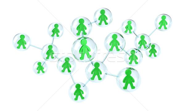 Teamwerk illustratie wisselwerking veel mensen een Stockfoto © FotoVika