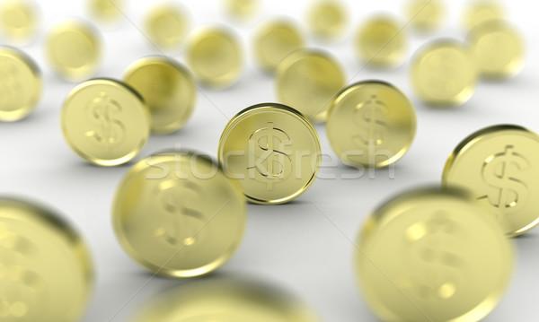The coins Stock photo © FotoVika