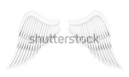 Illustrazione ali angelo bianco amore Foto d'archivio © FotoVika
