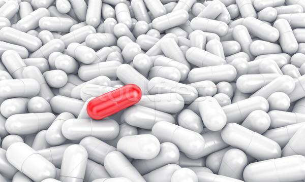 Especial red pill Stock photo © FotoVika