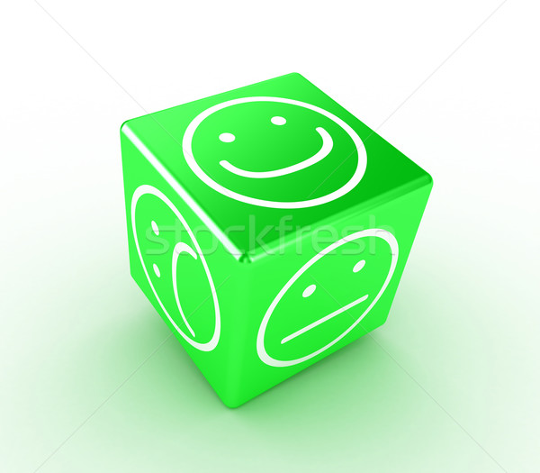 Cube with faces Stock photo © FotoVika