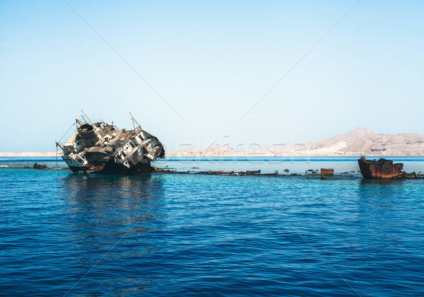 The sunk ship Stock photo © FotoVika