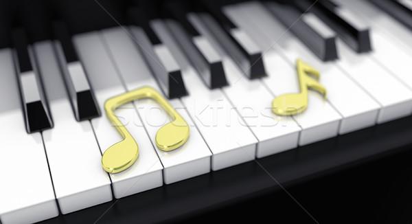 Piano with notes Stock photo © FotoVika