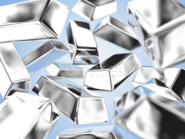 Zilver illustratie veel markt baksteen lucht Stockfoto © FotoVika