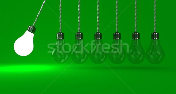 Lampade illustrazione pendolo verde luce energia Foto d'archivio © FotoVika