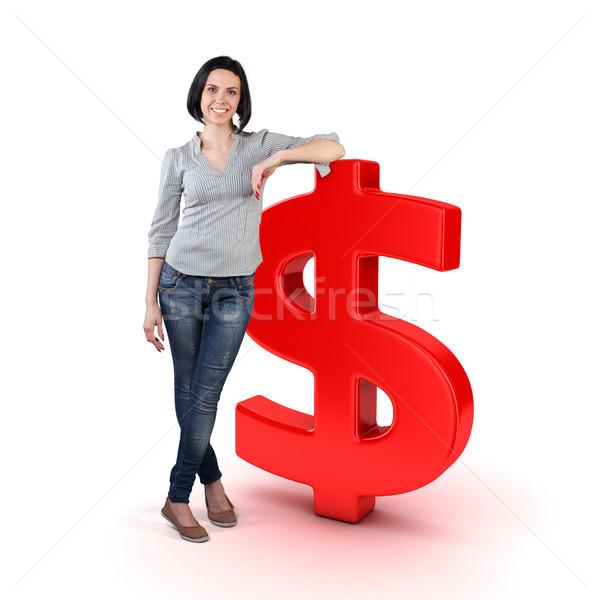 Girl with a money Stock photo © FotoVika
