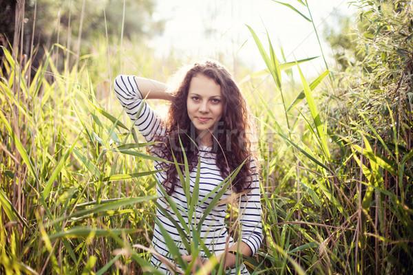 Girl in canes Stock photo © FotoVika