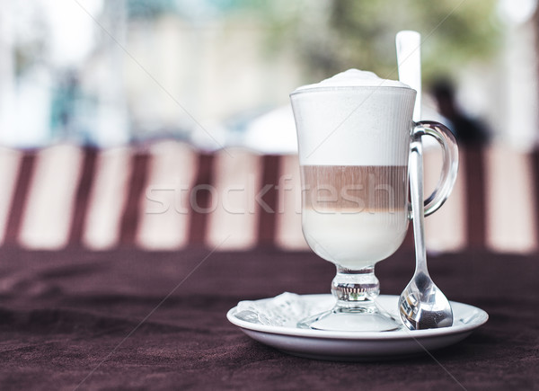 Кубок фото служба таблице обеда белый Сток-фото © FotoVika