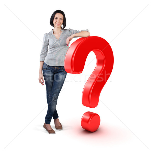 Stock photo: Girl with a question