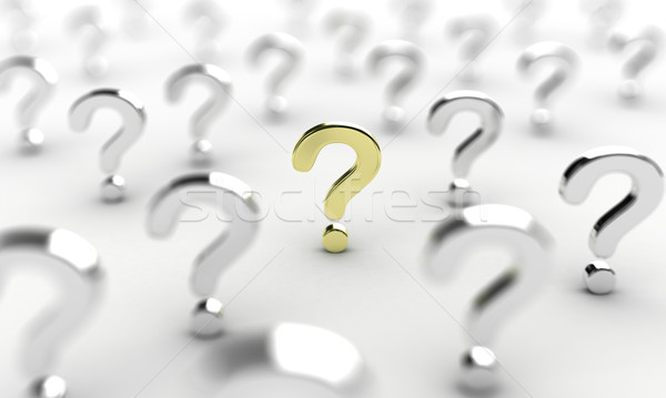 Question signe illustration beaucoup signes blanche Photo stock © FotoVika