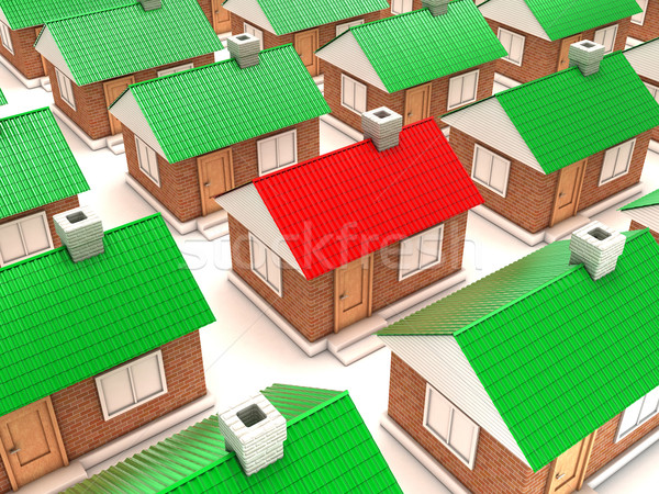 The houses Stock photo © FotoVika