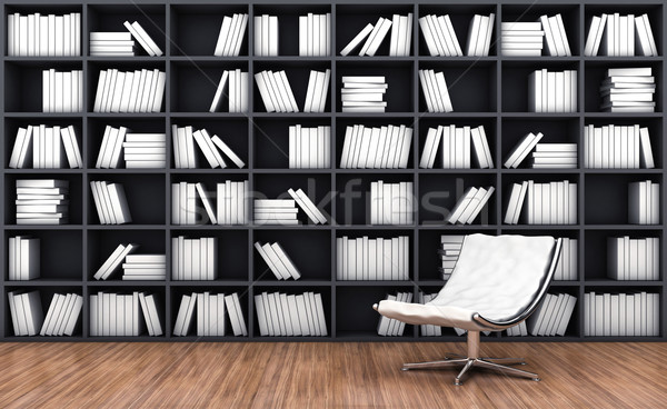 Bookcase with armchair Stock photo © FotoVika