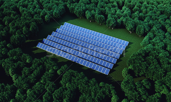 солнечной новых электроэнергии природы Сток-фото © FotoVika