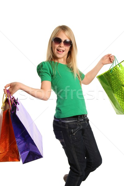 Young Blond Shopping Girl Stock photo © fouroaks