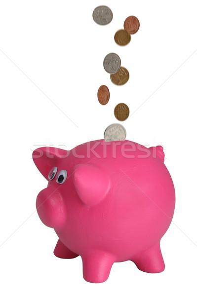 Сток-фото: Piggy · Bank · падение · монетами · деньги · Финансы