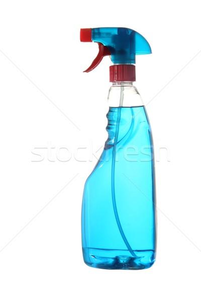 青 洗浄 流体 ウィンドウ ソリューション ストックフォト © fouroaks