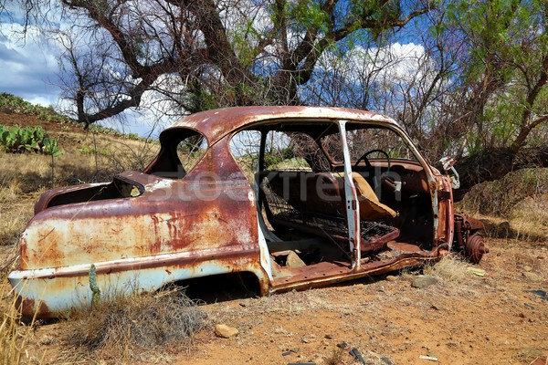 Deserted and Rusted Auto Wreck Stock photo © fouroaks