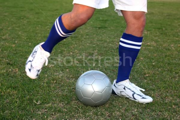 Balón de fútbol fútbol jugadores piernas posición Foto stock © fouroaks