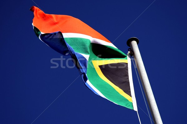 South African Flag Stock photo © fouroaks