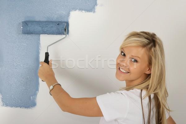 絵画 かなり ブロンド 女性 ベッド ストックフォト © fouroaks