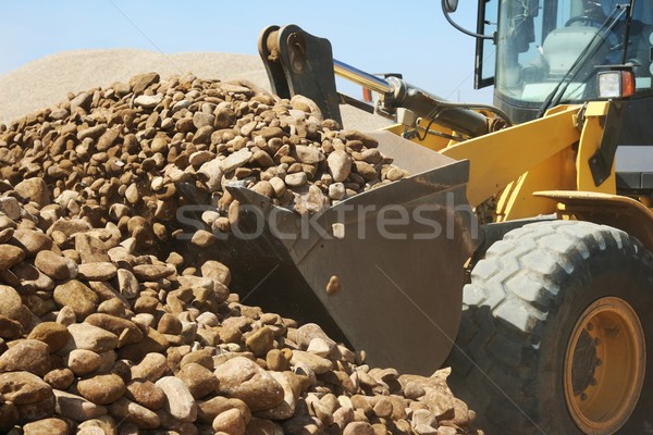 Loader and Stones on Quarry Stock photo © fouroaks