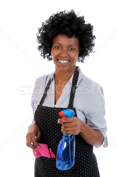 African Cleaning Woman Stock photo © fouroaks