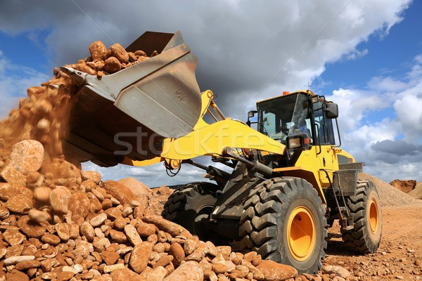 Front End Loader Tipping Stone Stock photo © fouroaks