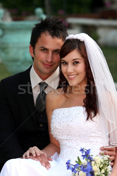 Beautiful Wedding Couple Stock photo © fouroaks