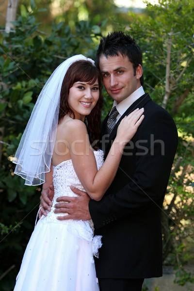 Wedding Couple Outdoors Stock photo © fouroaks