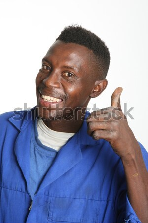 Concerned African Man Stock photo © fouroaks