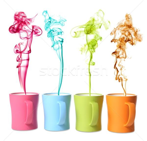 кофе чай цвета пар напиток Сток-фото © fouroaks
