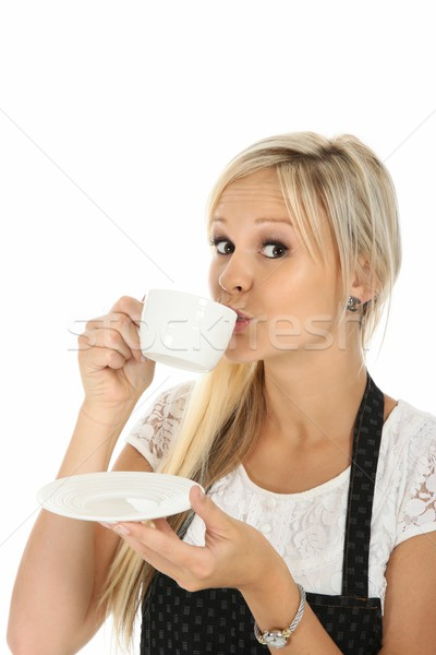 Beautiful Blond Tea Drinker Stock photo © fouroaks