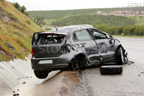 Autó baleset roncs modern autómobil leragasztott Stock fotó © fouroaks