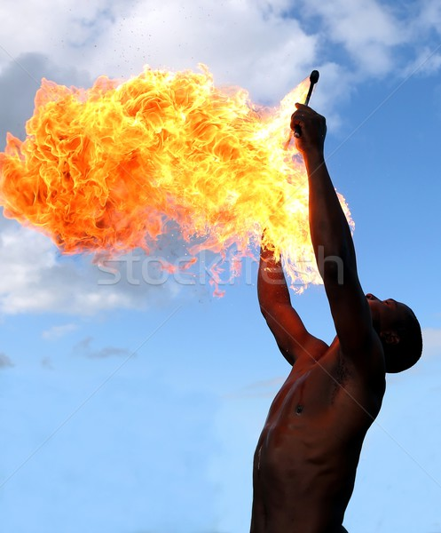 Fire Eater at the Circus Stock photo © fouroaks