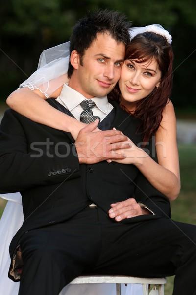 ゴージャス 結婚式 カップル 美しい 小さな 幸せ ストックフォト © fouroaks