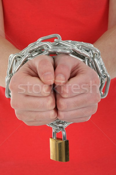 Hands Bound by Chain Stock photo © fouroaks
