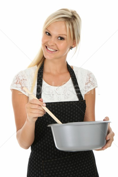 Lovely Blonde Cooking Woman Stock photo © fouroaks