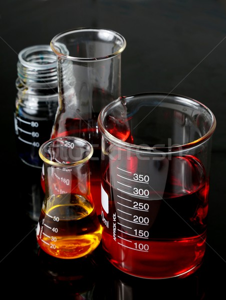 Laboratory Flasks Glassware Stock photo © fouroaks