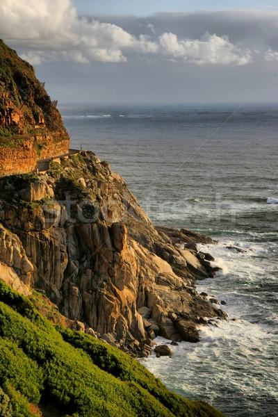 美しい 海岸線 山 ピーク ドライブ ケープタウン ストックフォト © fouroaks