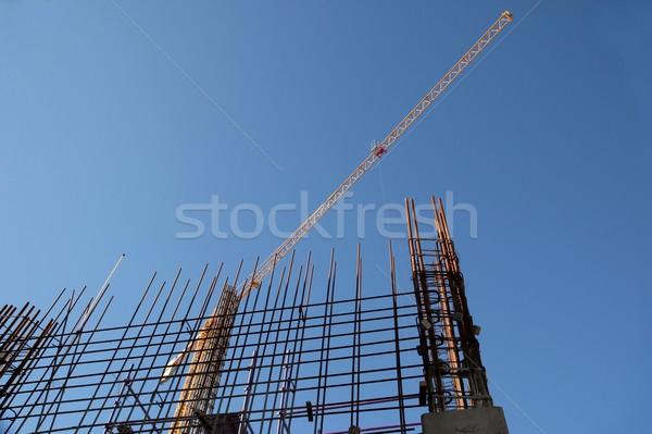 Building Construction Steel and Crane Stock photo © fouroaks