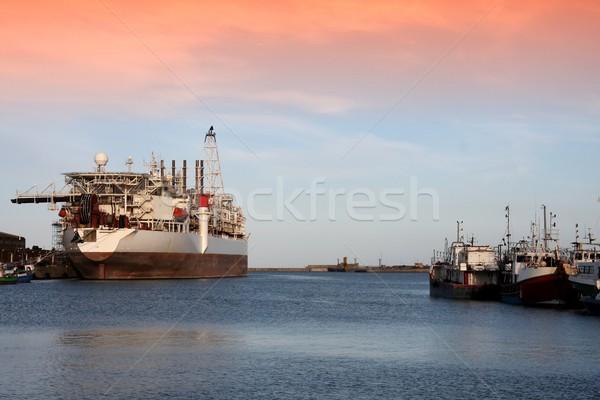 船 ボート 油 釣り ビジネス ストックフォト © fouroaks