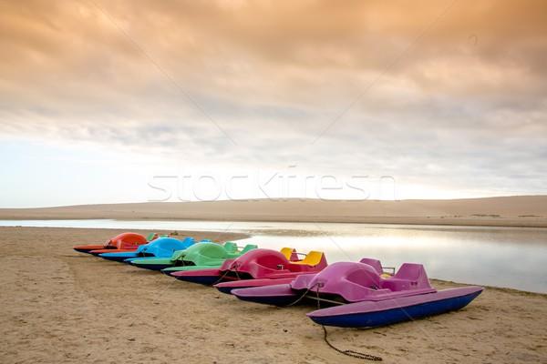 Paddle Boats at River Stock photo © fouroaks