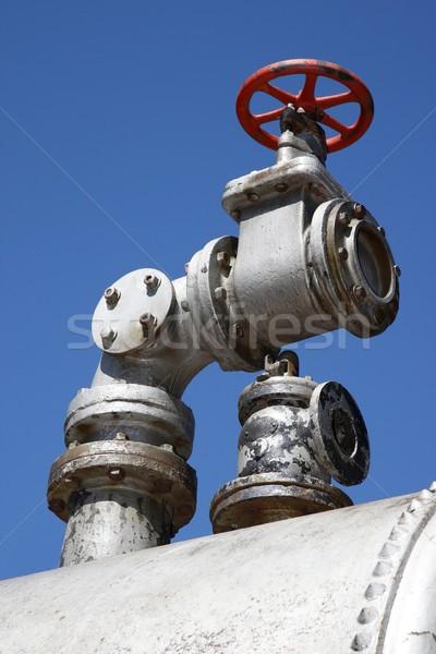 Vieux vapeur vanne détail robinet acier Photo stock © fouroaks