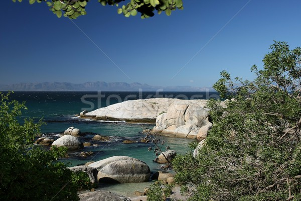 Beach with Blue Water and Rocks Stock photo © fouroaks