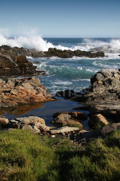 ストックフォト: 海岸 · 南アフリカ · シーン · 岩 · 波