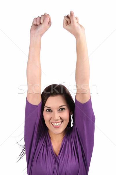 ブルネット 少女 幸せ 美しい 女性 ストックフォト © fouroaks